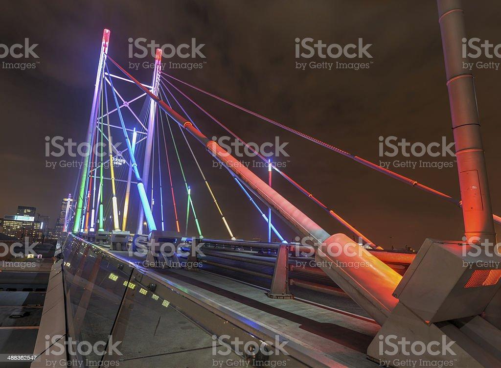 Nelson Mandela Bridge, Johannesburg, SA stock photo
