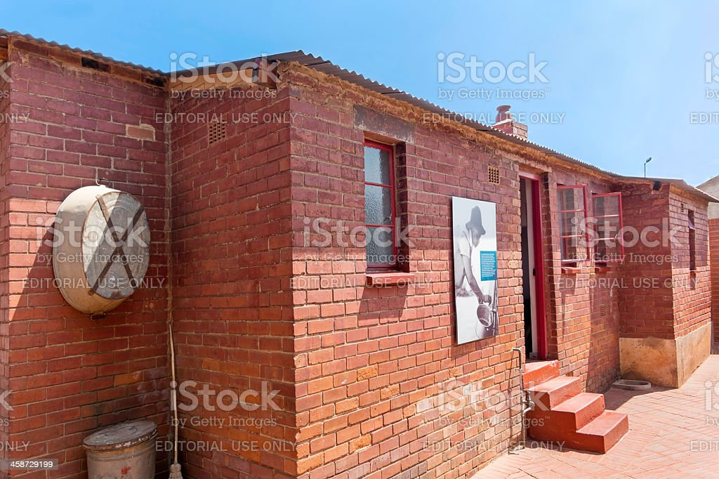 Nelson Mandela House in Soweto stock photo