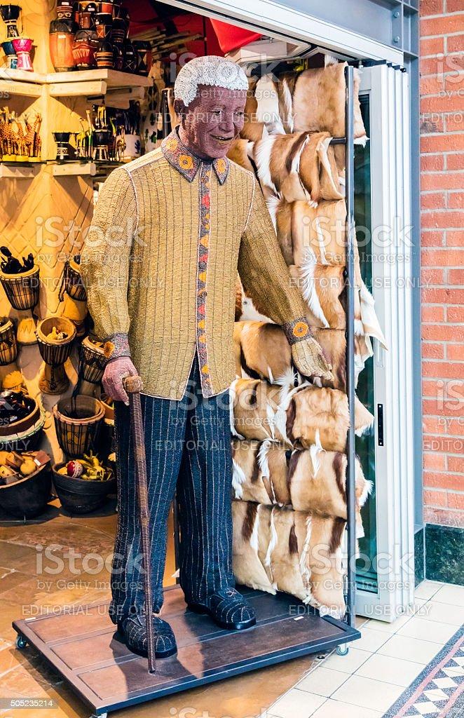 Nelson Mandela made from beadworks stock photo