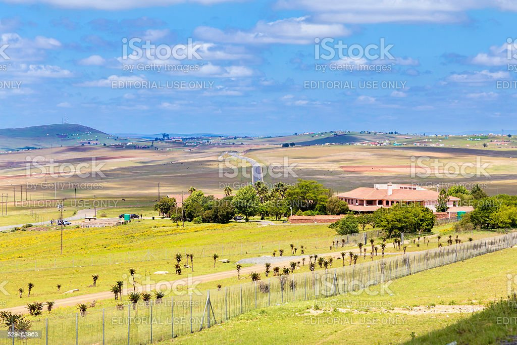 Nelson Mandela new home in Quno, Eastern Cape Province stock photo
