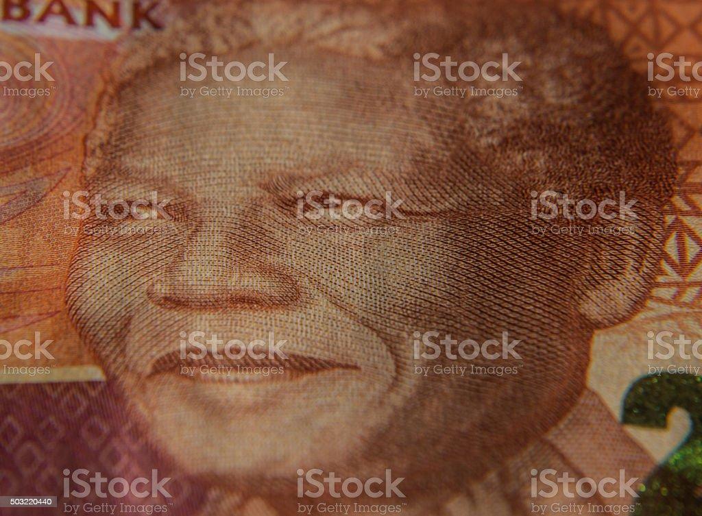 Nelson Mandela on Rand Note stock photo