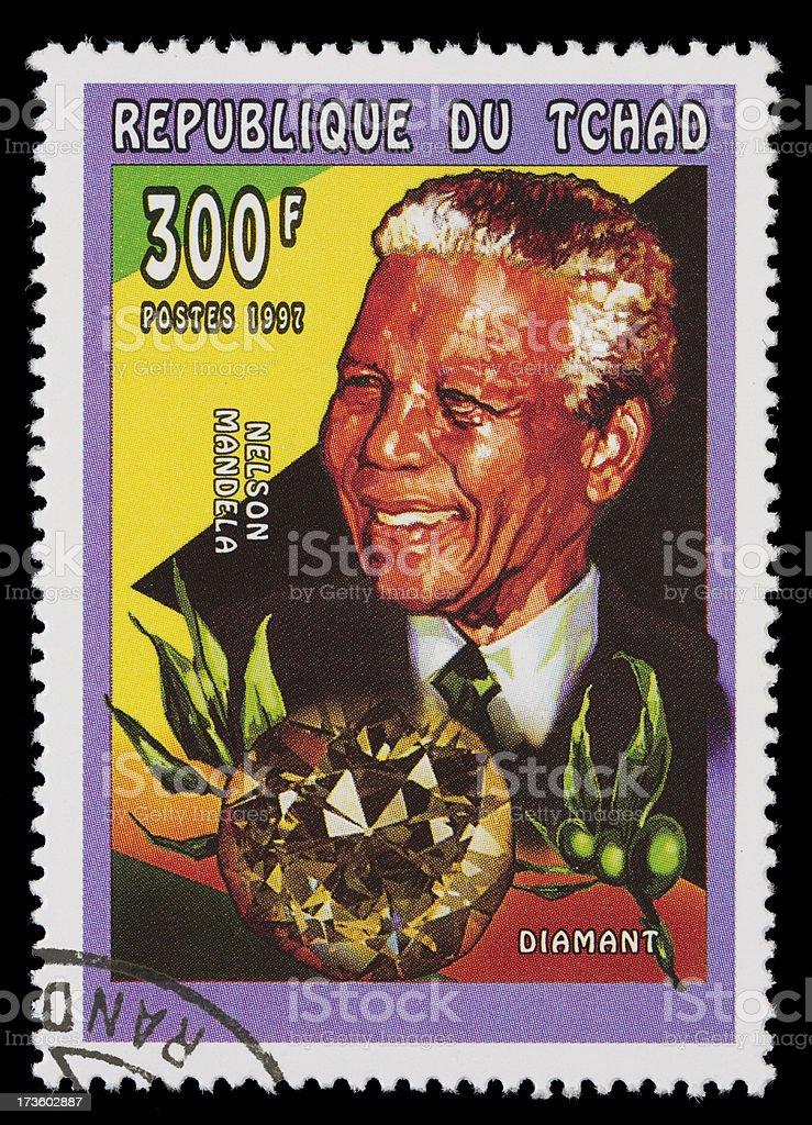 Nelson Mandela postage stamp stock photo