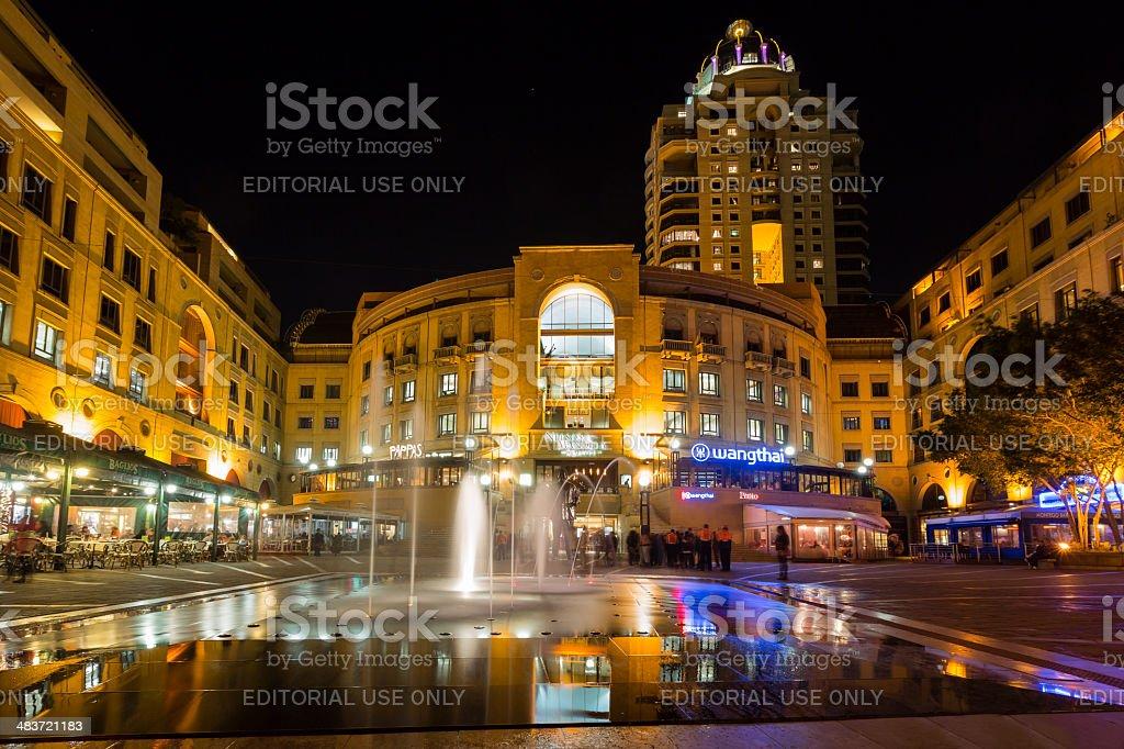 Nelson Mandela Square, Johannesburg stock photo