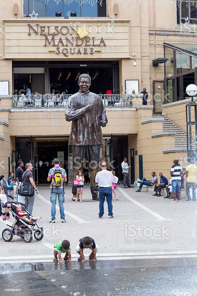 Nelson Mandela Square stock photo