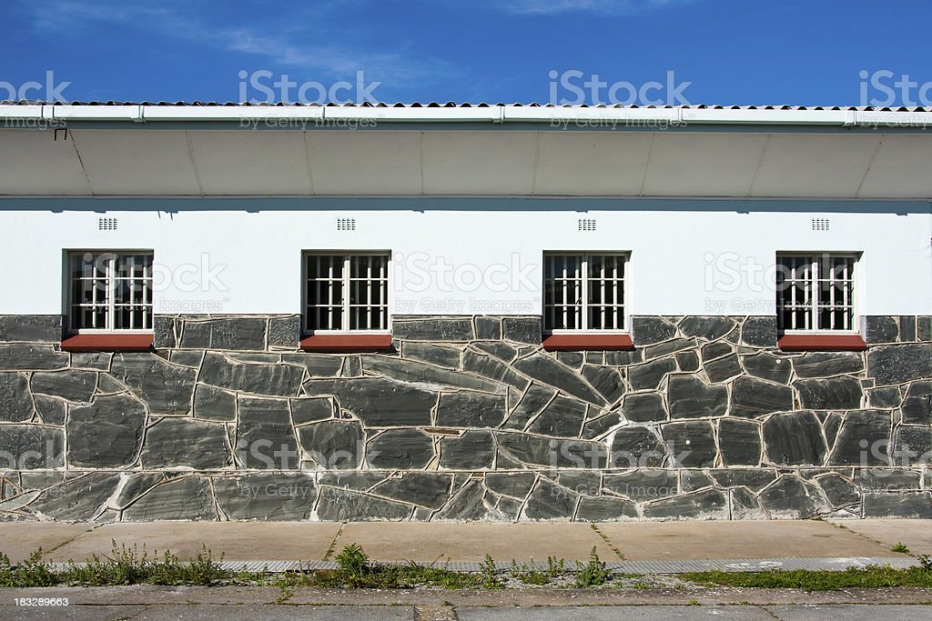 Nelson Mandela´s Prison Barrack on Robben Island stock photo