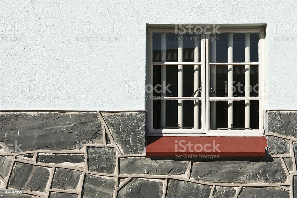 Nelson Mandela's Prison Cell on Robben Island stock photo