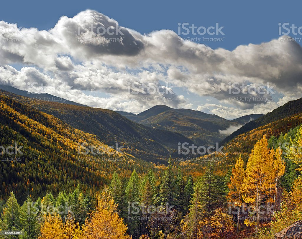 Nelson Range at fall stock photo