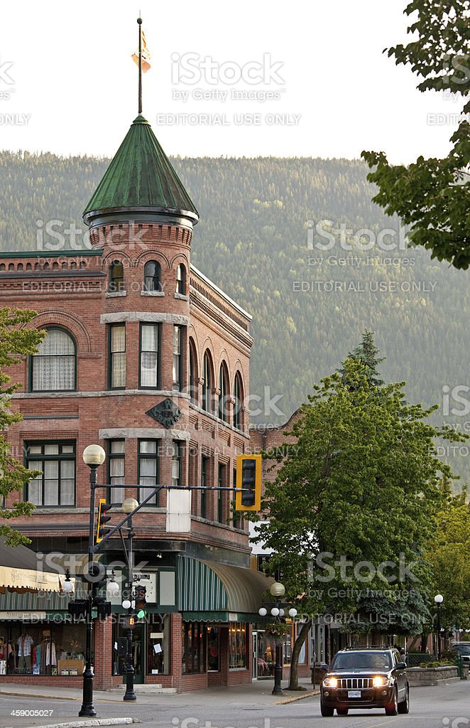 Nelson Town Hall stock photo