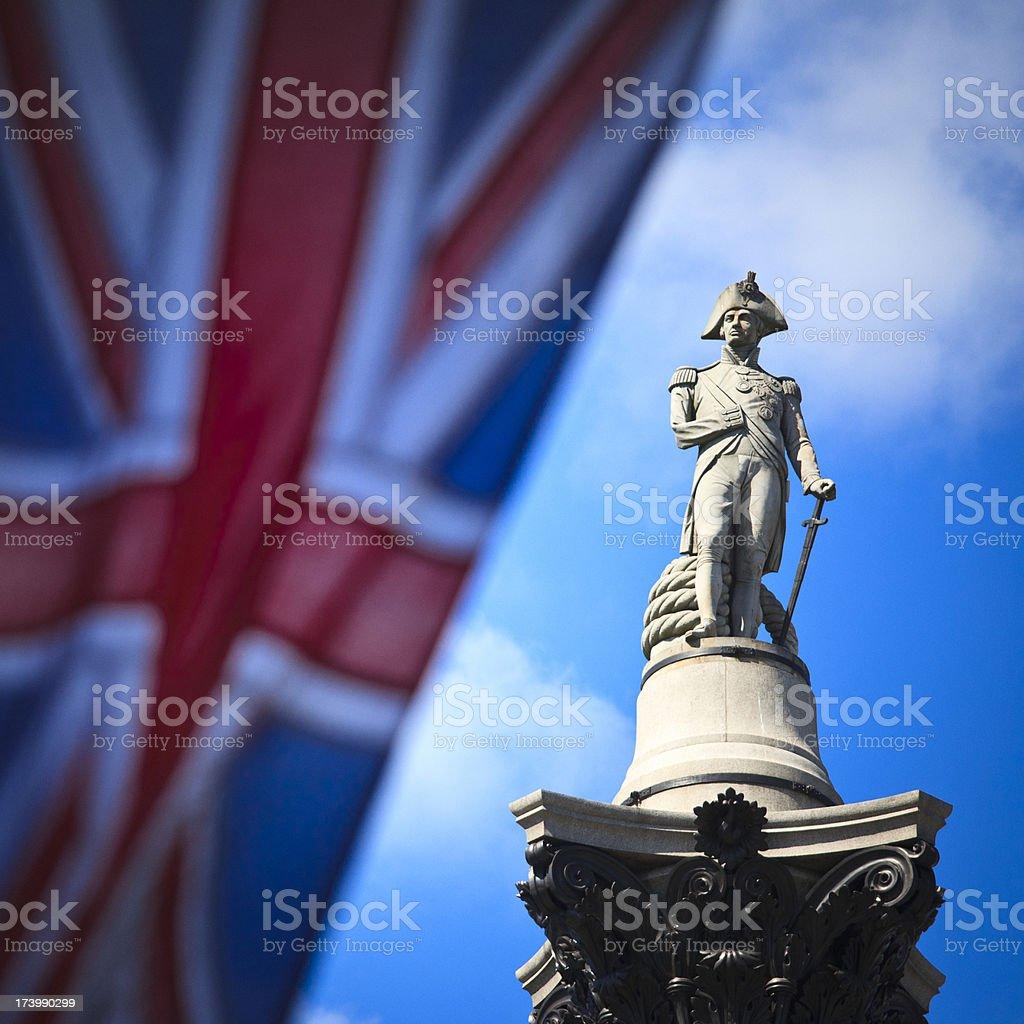 Nelson's Column in Trafalgar Square stock photo