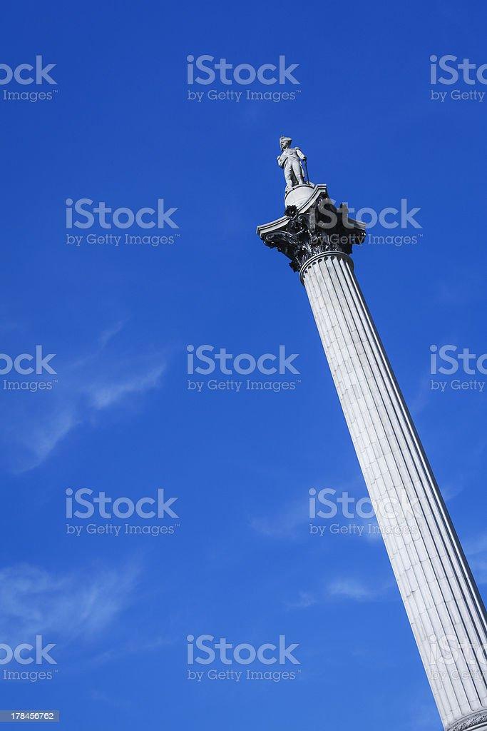 nelsons column trafalgar square london england royalty-free stock photo