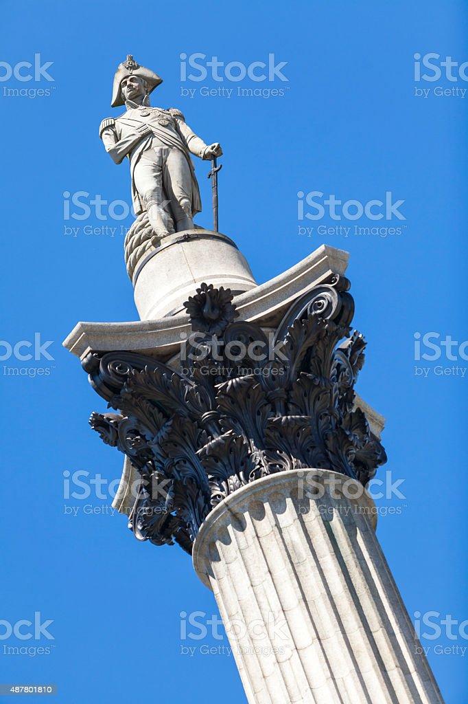 Nelson's Column, Trafalgar Square, London, England stock photo
