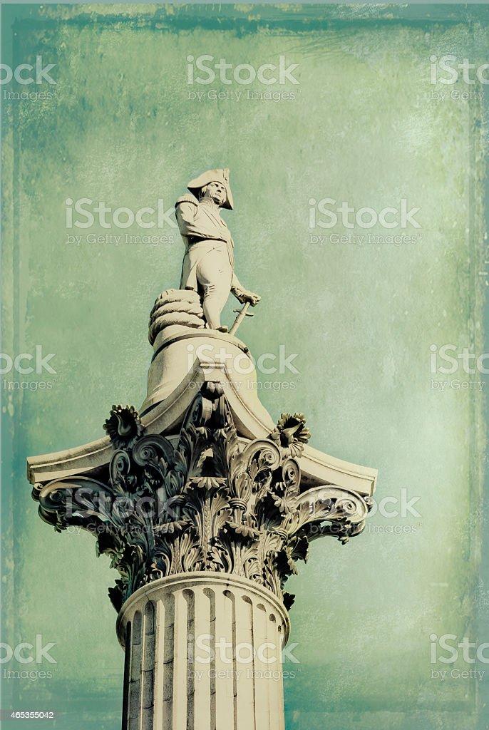 Nelson's Column, Trafalgar Square, London stock photo