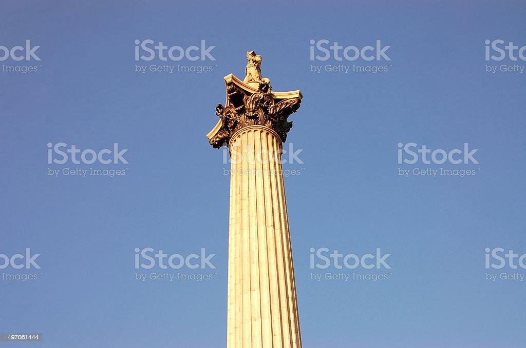 Nelson's Column, Trafalgar Square stock photo