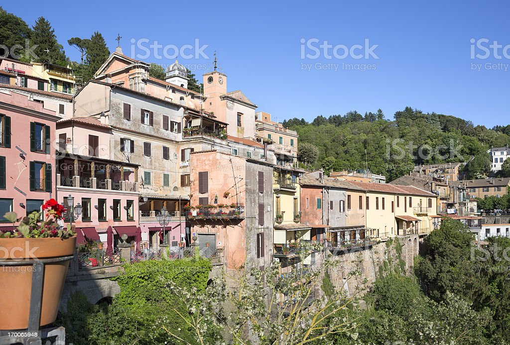 Nemi in Castelli Romani, Lazio Italy royalty-free stock photo