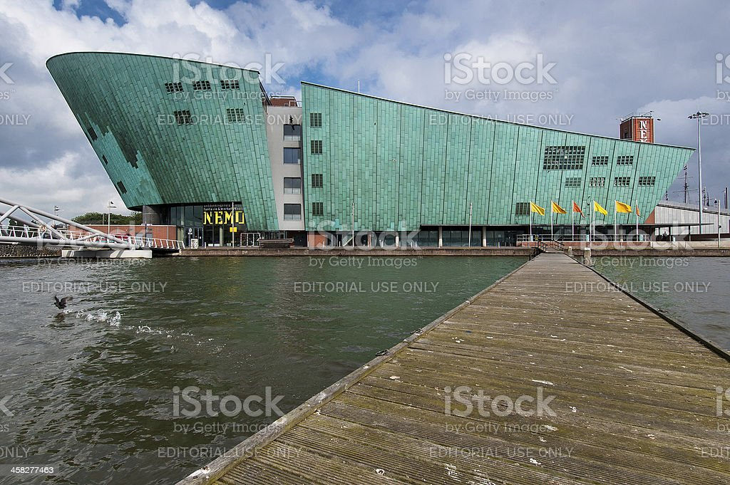 Nemo Museum in Amsterdam royalty-free stock photo