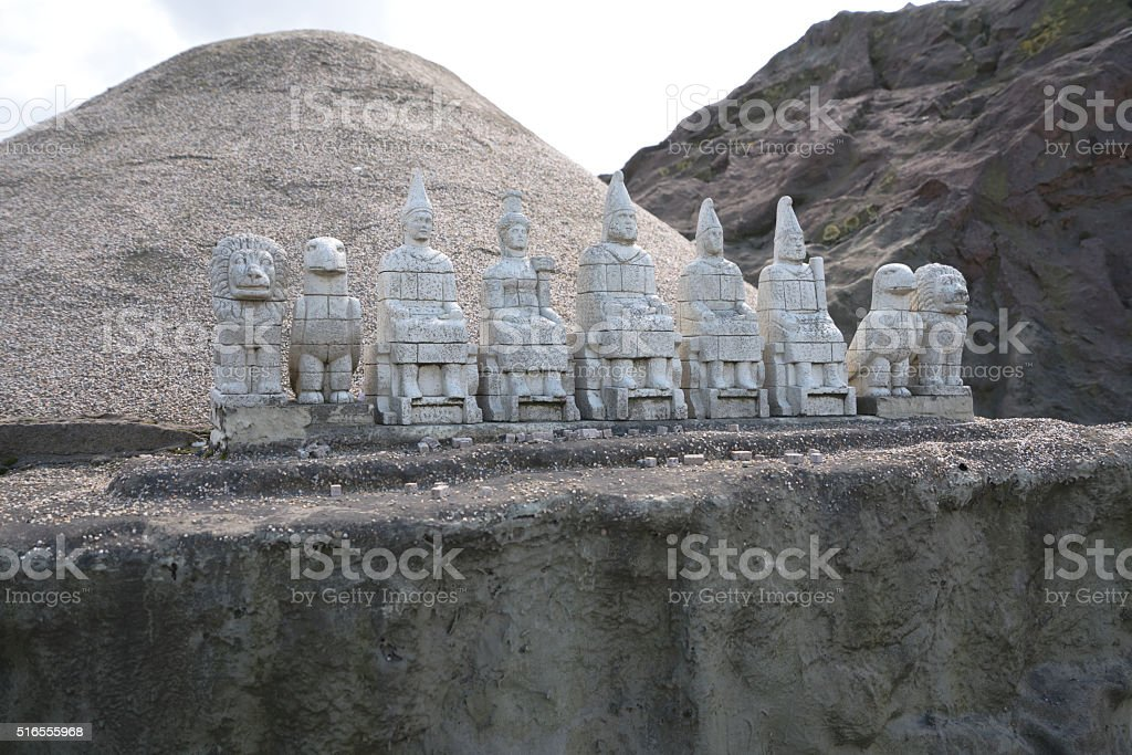 Nemrut Adiyaman Miniature stock photo