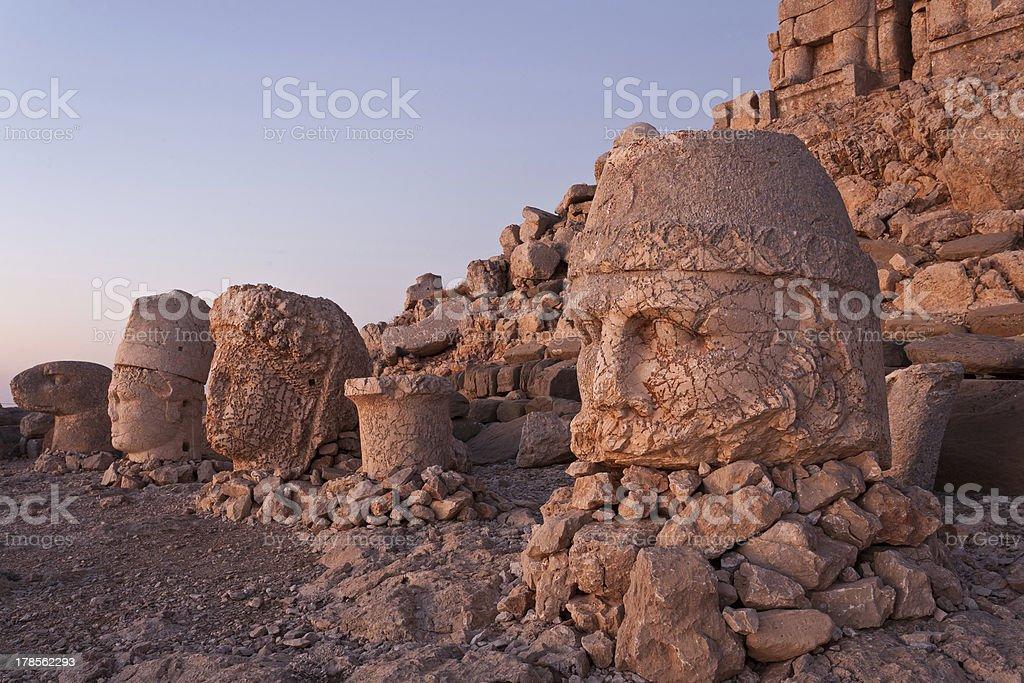 Nemrut dagi heads. royalty-free stock photo