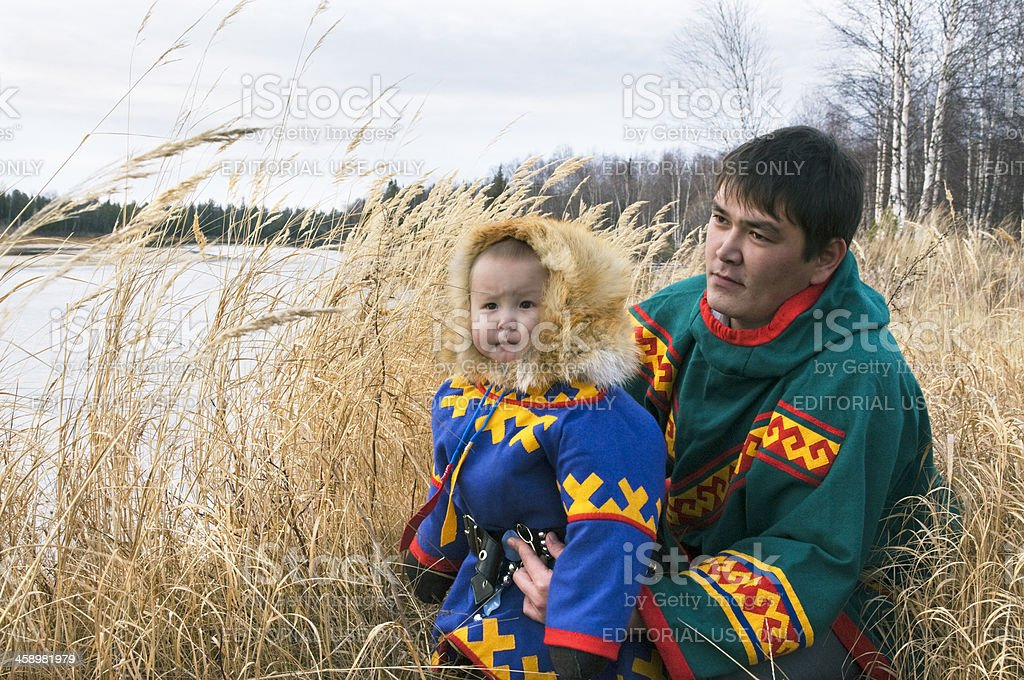 Nenets (indigenous people of the North.) royalty-free stock photo