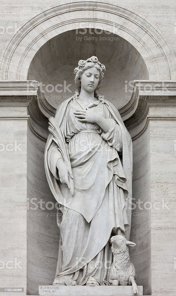 Neoclassic Marble Statue in its Niche royalty-free stock photo