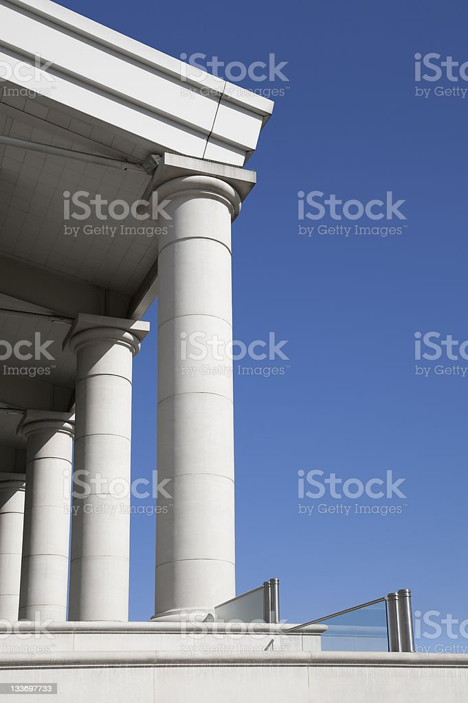 Neoclassical architecture detail royalty-free stock photo