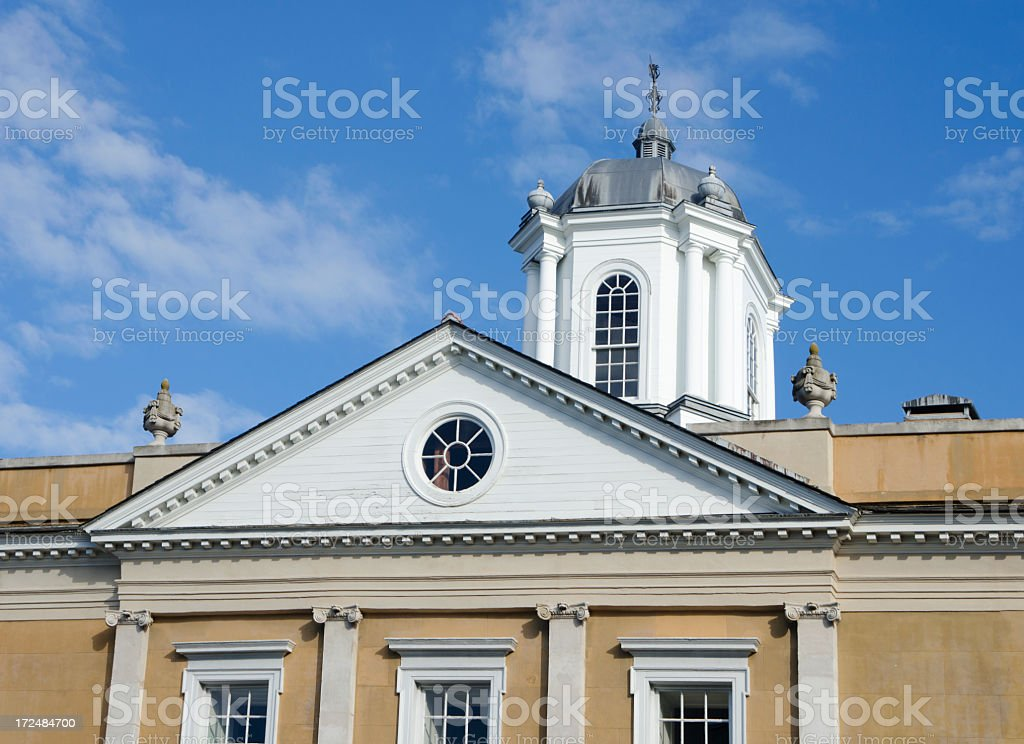 Neo-classical architecture in Charleston, South Carolina.  royalty-free stock photo