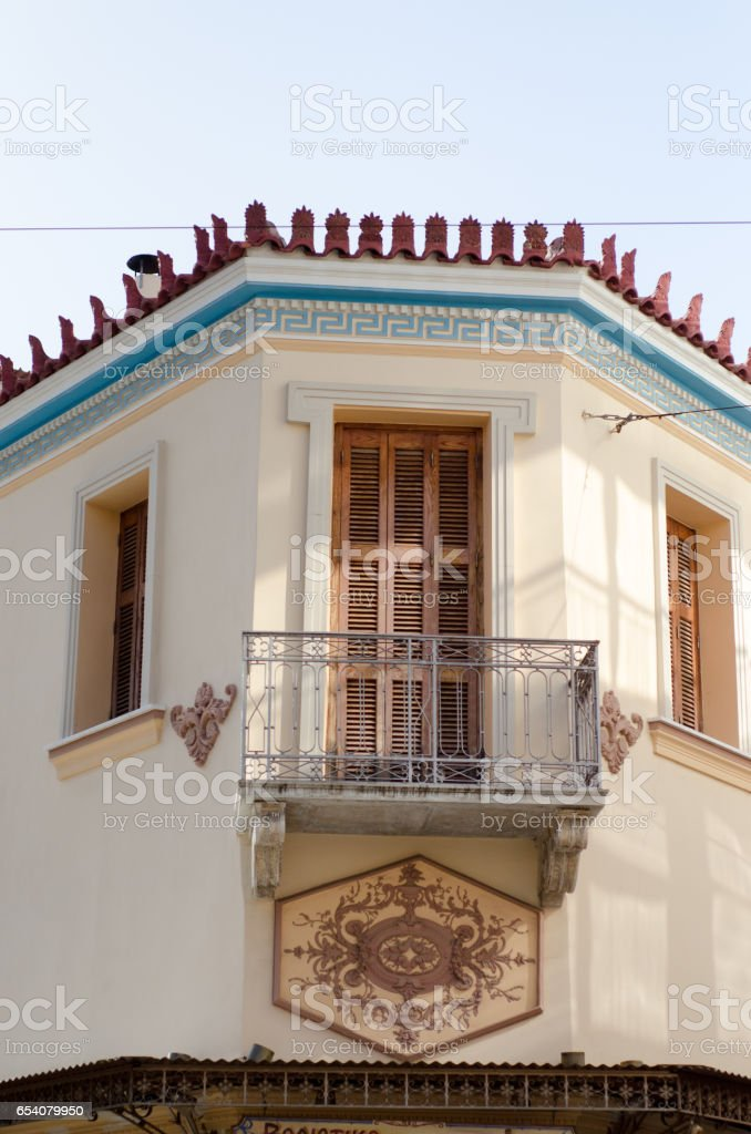 neoclassical building stock photo