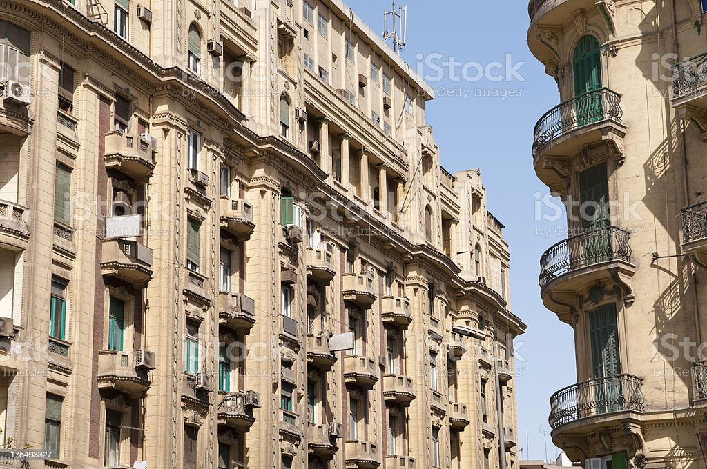 Neoclassical buildings in Cairo, Egypt stock photo