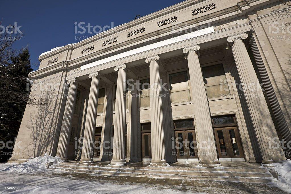 Neoclassical Church Facade in Chicago stock photo