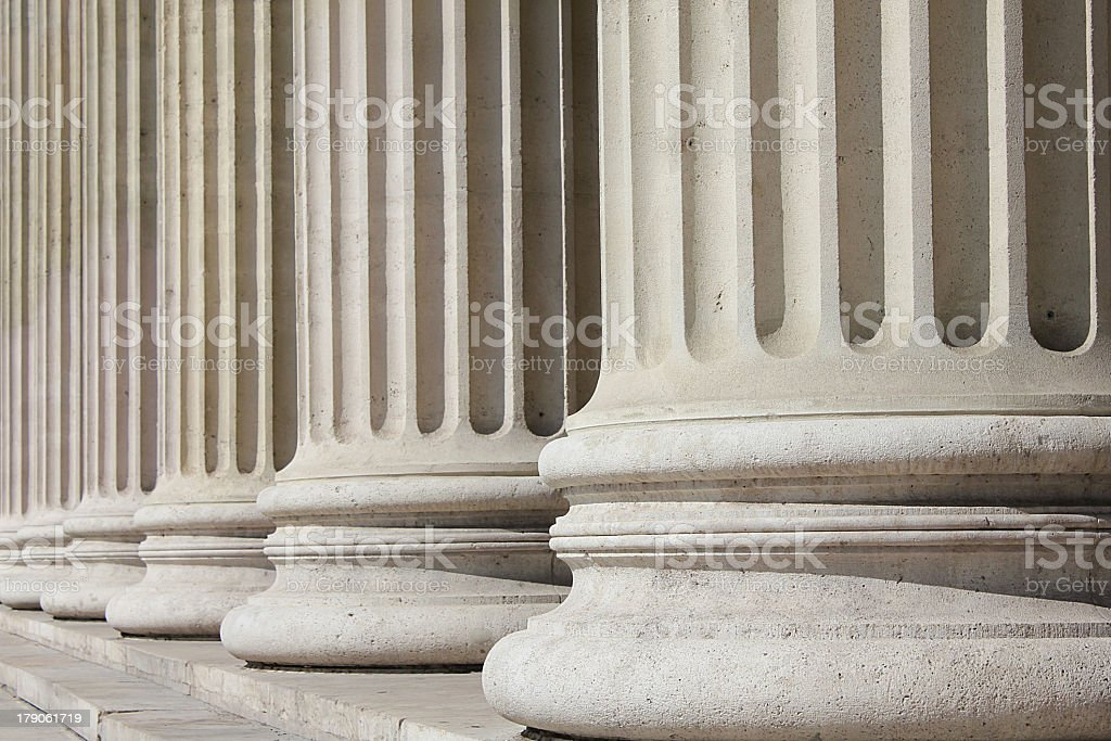 Neoclassical columns - business concept stock photo