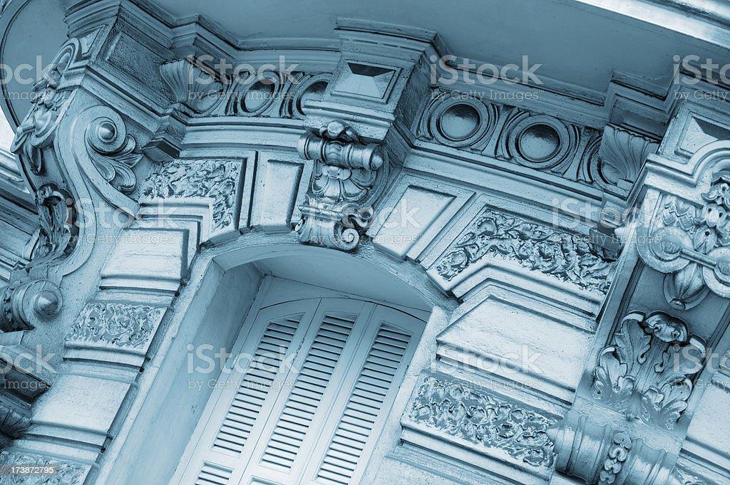 Neo-Classical Facade Detail stock photo