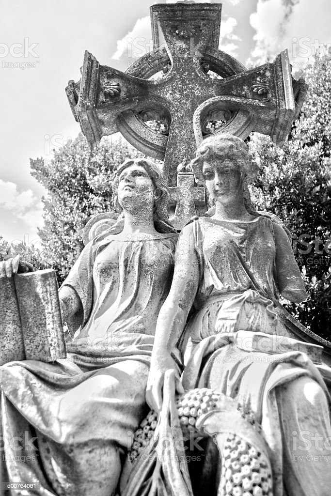 Neoclassical Neal Monument in Oakland Cemetery (HDR) stock photo