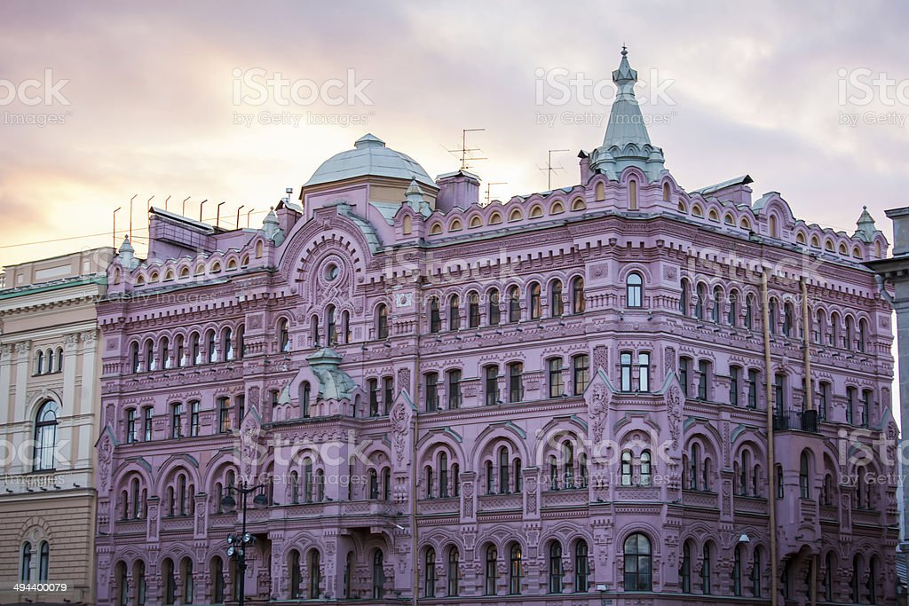 Neoclassical Russian architecture, St Petersburg stock photo
