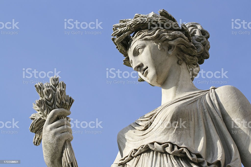 Neo-Classical sculpture  at Piazza del Popolo in Rome, Italy royalty-free stock photo