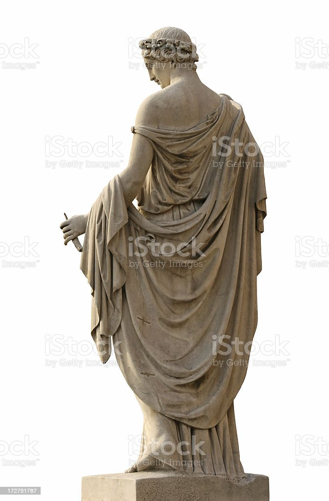 Neo-Classical sculpture of a women stock photo