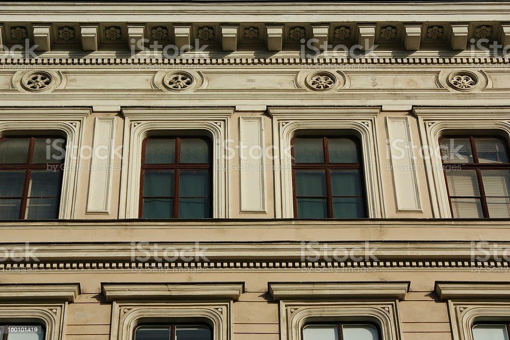Neo-Classical Window Facade stock photo