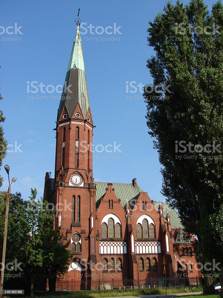 Neogothic Church in summer royalty-free stock photo