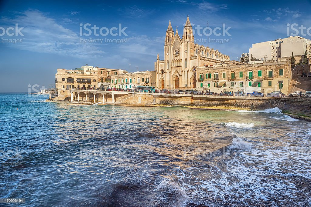 Neo-Gothic church of Our Lady of Mount Carmel stock photo