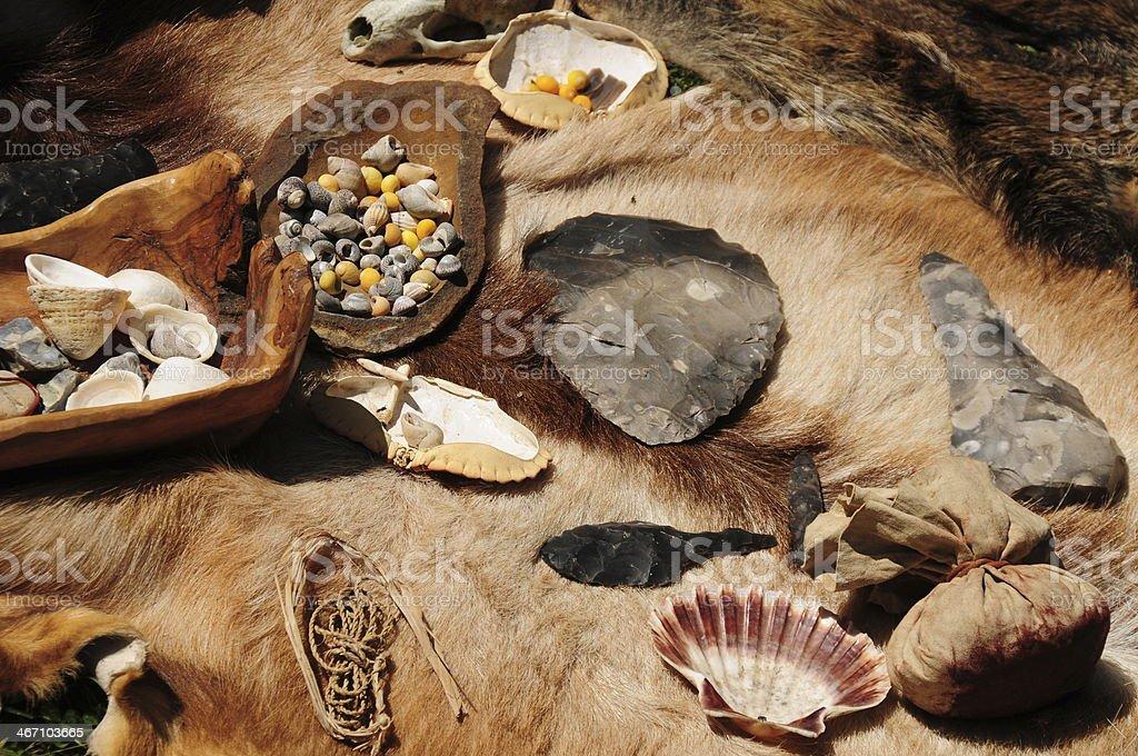 Neolithic camp, U.K. stock photo