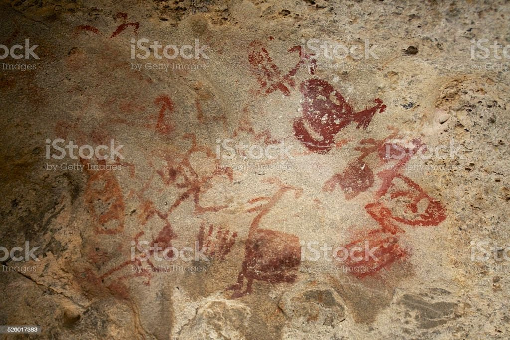 Neolithic Mural Paintings stock photo