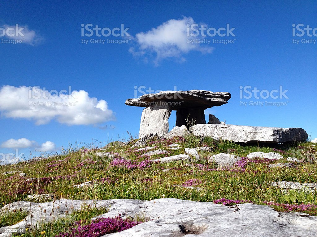 Neolithic Poulnabrone Dolmen, Clare, Ireland stock photo