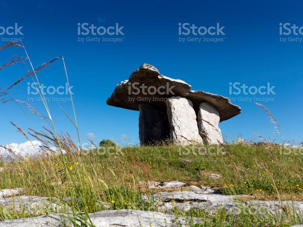 Neolithic Poulnabrone Dolmen, Clare, Ireland stock photo