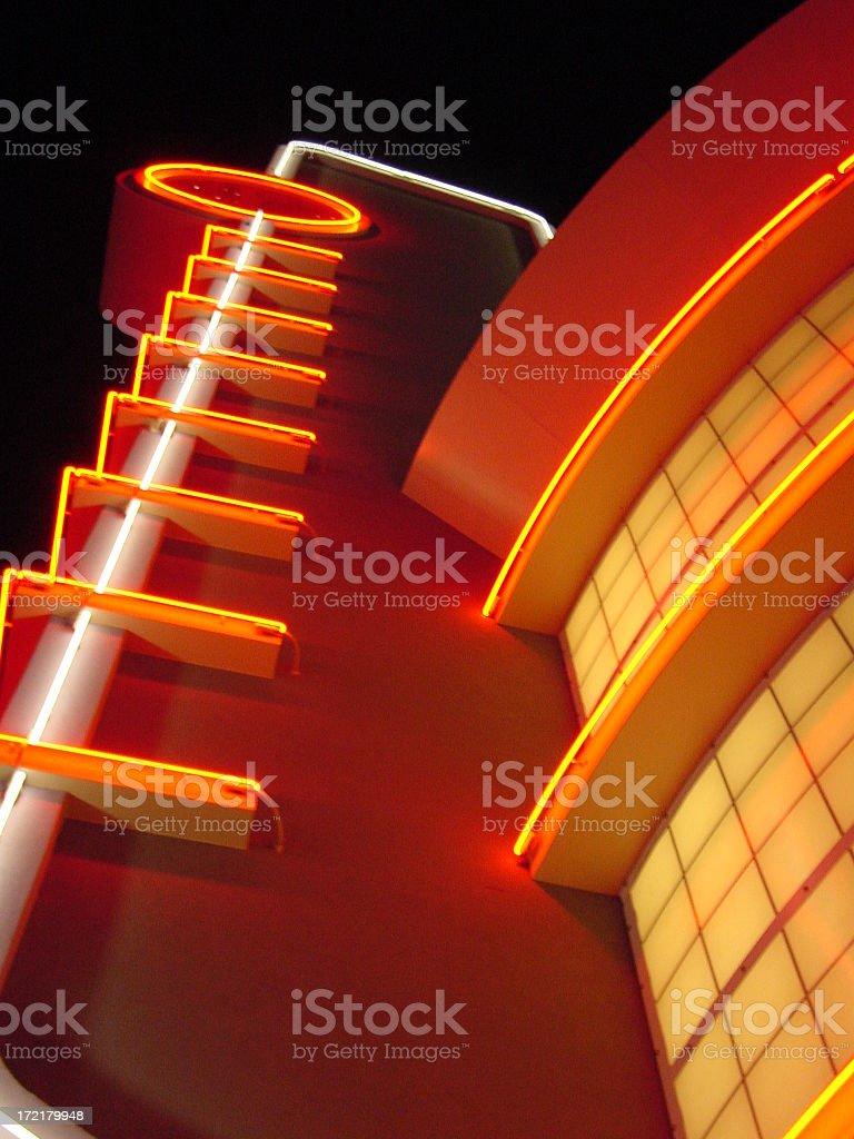 Neon at Howard Huges Promenade royalty-free stock photo