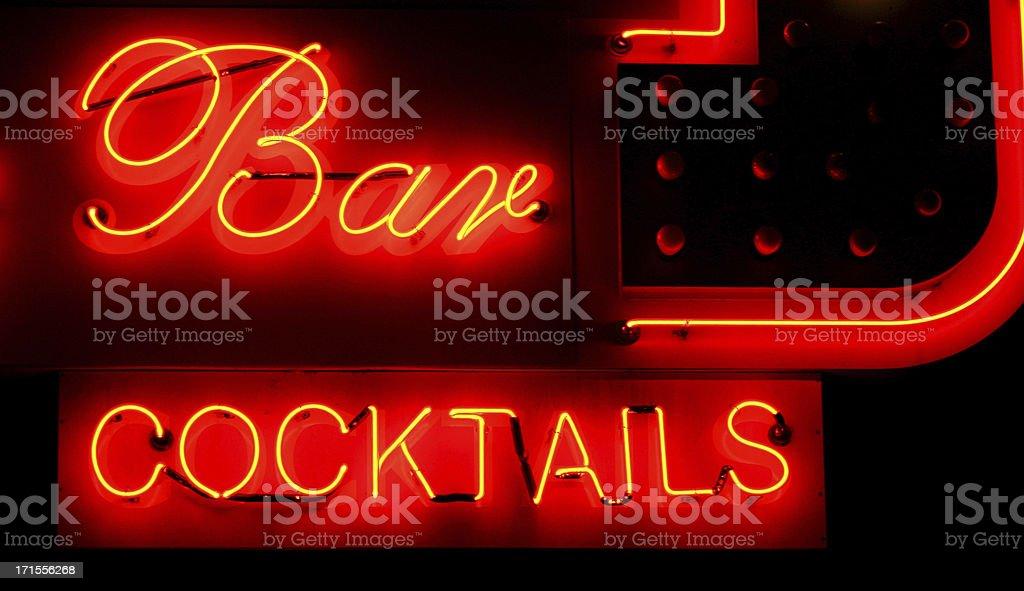 Neon - bar stock photo