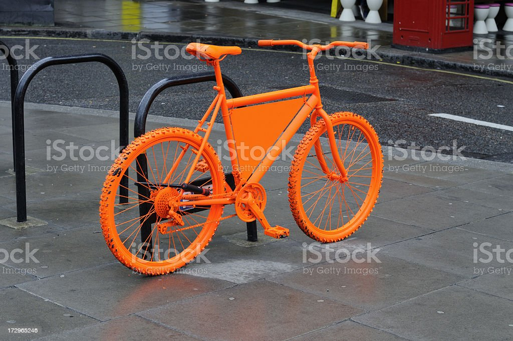 neon bike london stock photo