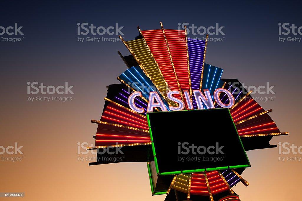Neon casino sign stock photo