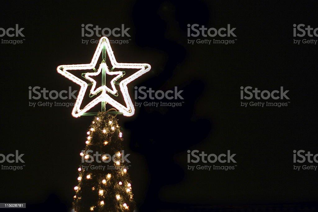 Neon Christmas Tree stock photo