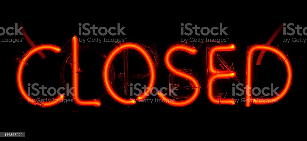 Neon Closed Sign royalty-free stock photo