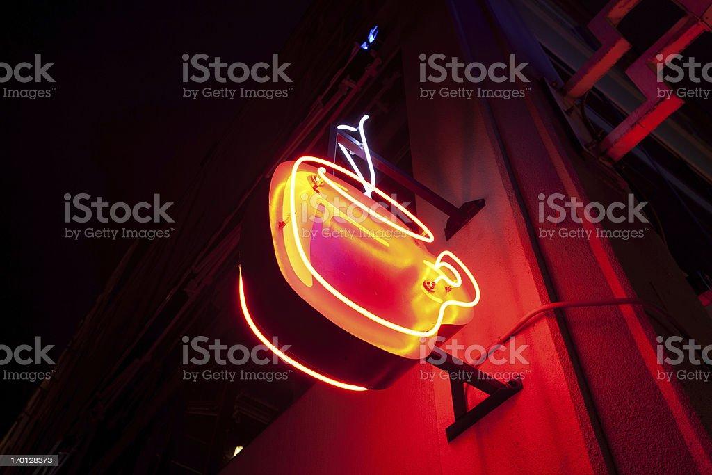 Neon Coffee Sign stock photo