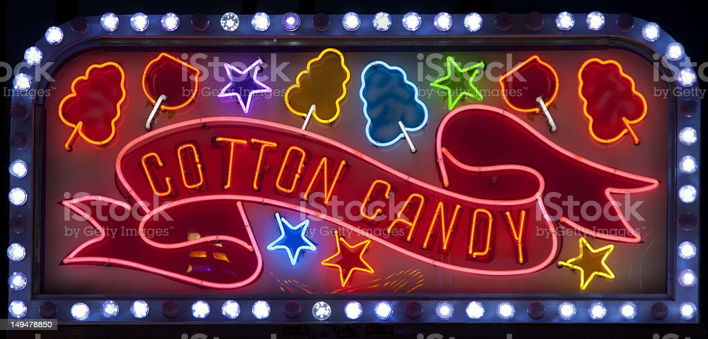 Neon Cotton Candy Sign stock photo