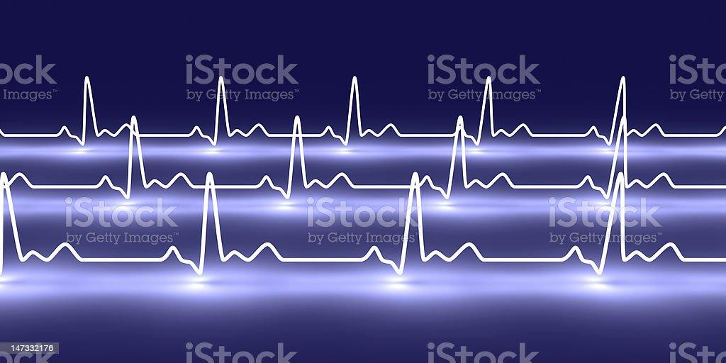 Neon design of heart pulsation royalty-free stock photo